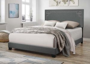 ACME Ishiko II Eastern King Bed - 20907EK - Gray Fabric