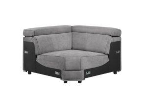 ACME Alwin Modular - Wedge - 53721 - Dark Gray Fabric