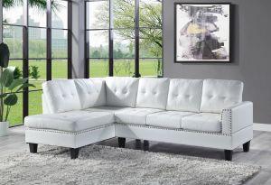 ACME Jeimmur Sectional Sofa , White PU - 56470