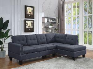 ACME Jeimmur Sectional Sofa , Gray Linen - 56475