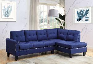 ACME Jeimmur Sectional Sofa , Blue Linen - 56480