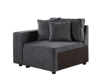 ACME Silvester Modular Armrest, Gray Fabric - 56870