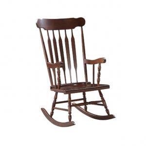 ACME Raina Rocking Chair, Cappuccino Finish - 59934