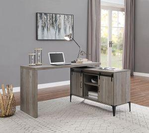 ACME Zakwani Writing Desk, Gray Oak & Black Finish - OF00005