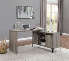 ACME Zakwani Writing Desk, Gray Oak & Black Finish - OF00005