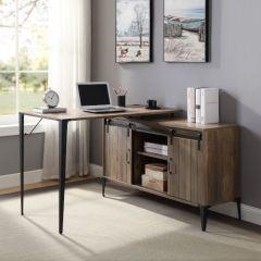 ACME Zakwani Writing Desk, Rustic Oak & Black Finish - OF00010
