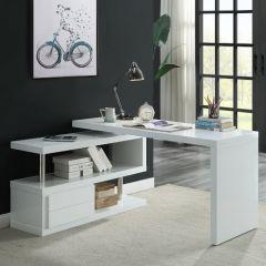 ACME Buck II Writing Desk, White Finish - OF00017