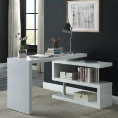 ACME Buck II Writing Desk, White Finish - OF00018